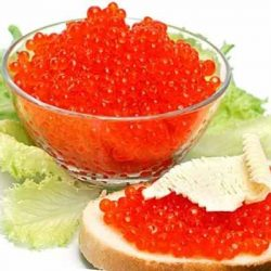 Красная икра и морепродукты