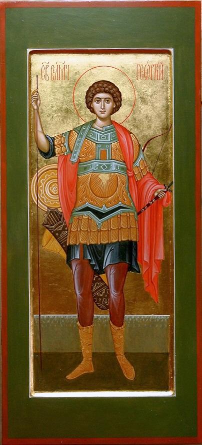 _мерная икона Георгия Победоносца 52 х 25