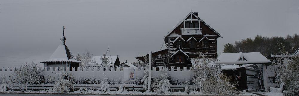 вид мастерской с пятницкого шоссе зимой. Брехово
