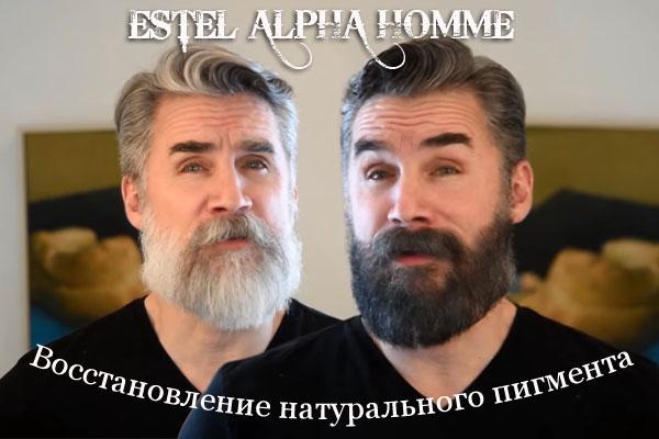 Камуфляж для мужских волос - Estel - восстановление натурального пигмента