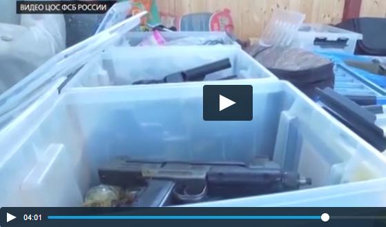 В Подмосковье обнаружен тайник с оружием ОПГ 90-х (ВИДЕО)