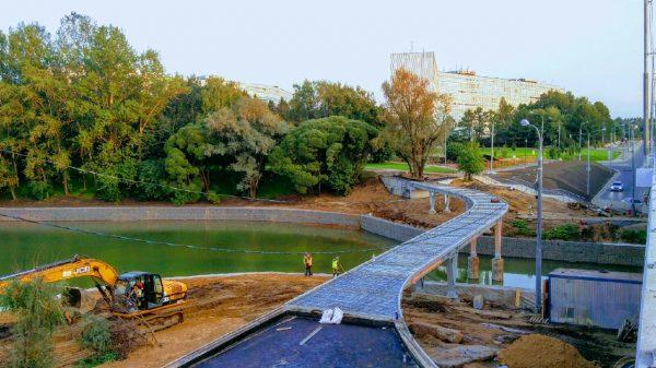 благоустройство набережной городского пруда и парка победы в Зеленограде