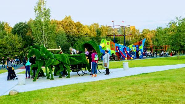 Парк отдыха у Нижнего Каменского пруда