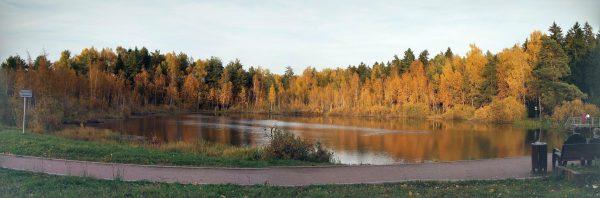 Черное озеро, Зеленоград, октябрь 2019, 6-й район