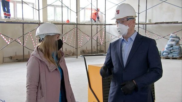 Собянин осмотрел новый корпус «Школы Новокосино» на 400 учеников