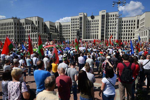 В митинге в поддержку Лукашенко приняли участие более 65 тысяч человек (ВИДЕО)