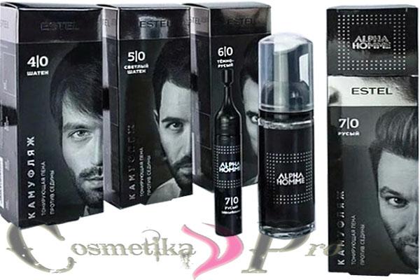 Окрашивание бороды при использовании камуфляжа ALPHA HOMME от Estel