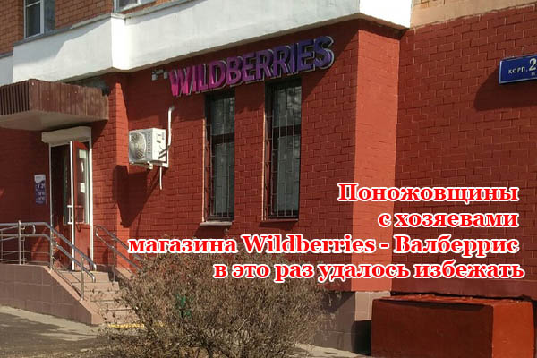 Поножовщины с хозяевами магазина Wildberries - Валберрис, в это раз удалось избежать