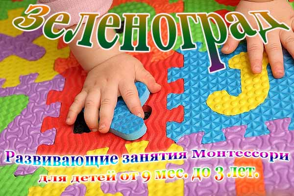 Развивающие занятия Монтессори для детей от 9 мес. до 3 лет.