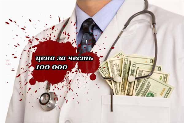 врач угрожал отрезать ногу пациентке, если та не заплатит 100 тысяч